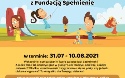 Kolonia z Fundacją Spełnienie 2021